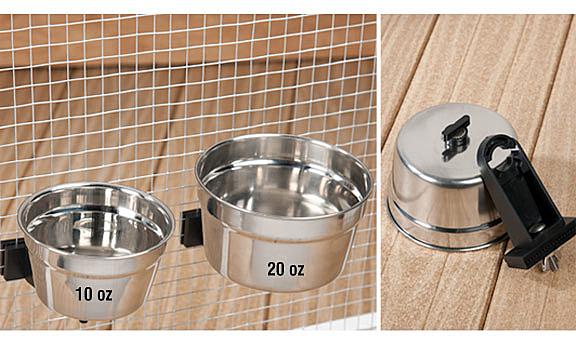RSC-10 貓狗鼠兔鳥不鏽鋼餵食碗 寵物餵食器 寵物離地碗 小尺寸300 ml 美國寵物第一品牌LIXIT®立可吸