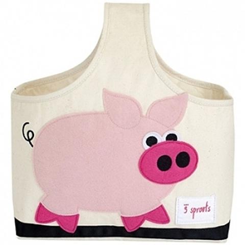加拿大 3 Sprouts 手提收納包-粉紅豬 台灣授權代理商