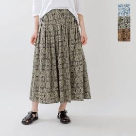 soi-e ソア モロカンスタイル柄プリントロングスカート 820919