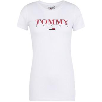 《セール開催中》TOMMY JEANS レディース T シャツ ホワイト XS オーガニックコットン 60% / ポリエステル 40% TJW ESSENTIAL SLIM