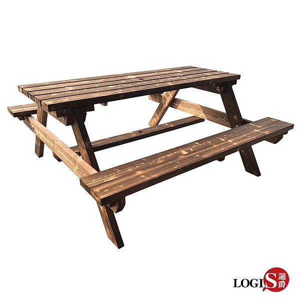 邏爵 LOGIS 多用原木庭園桌椅 戶外桌椅 12BEER