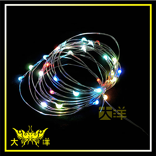 ◤大洋國際電子◢ USB 5V 防水型 銀絲燈 (100燈 10M) 七彩光 裝飾 氣氛燈 牌照燈 車底燈 招牌 1284-RGB-10