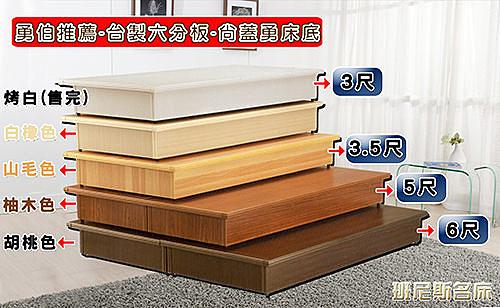 【班尼斯國際名床】‧安耐勇~6*7尺超堅固台製六分木芯板床底/床架/床板~耐用保護床墊