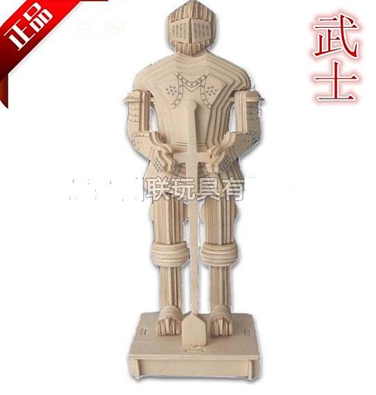 【協貿國際】DIY玩具成人木質拼裝立體拼圖古代武士IV(2入)