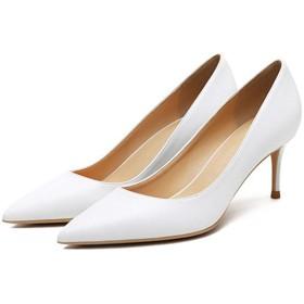 [MerryCo] 6色 パンプス フォーマルシューズ レディース ハイヒール 6cm ピンヒール 歩きやすい 安定感 走れる ポインテッドトゥ 美脚 レザー 革靴 女性らしい 大人 通勤 お呼ばれ パーティー オフィス 仕事 大きいサイズ 26.5 24
