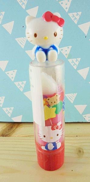 【震撼精品百貨】Hello Kitty 凱蒂貓~KITTY口紅-坐姿圖案-白色