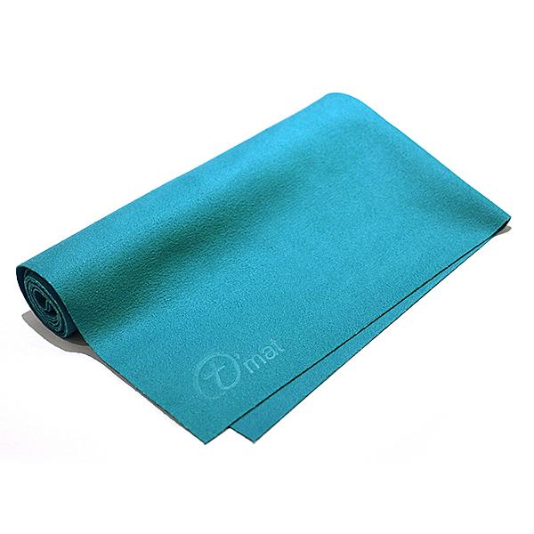 Taimat 瑜珈舖巾 純色超細纖維布毛巾 - 藍色