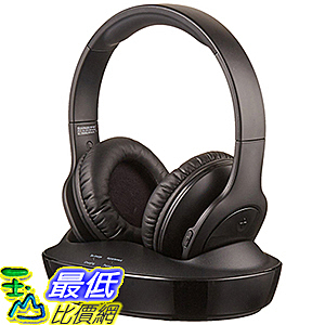 [106美國直購] 耳機 AmazonBasics Over-Ear Wireless RF Headphones with Charging Dock B01H0QVZXC