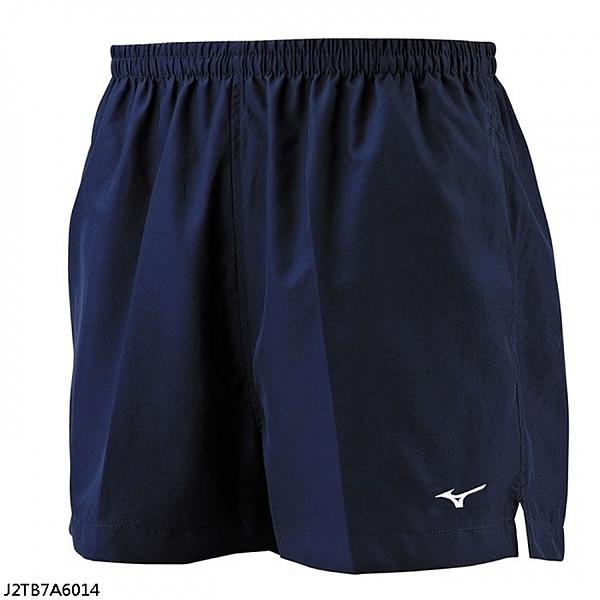 Mizuno [J2TB7A6014] 男女 短褲 運動 跑步 路跑 輕量 吸汗 速乾 舒適 單層 無內裡 深藍