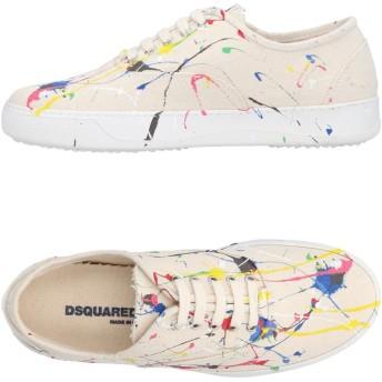 《セール開催中》DSQUARED2 メンズ スニーカー&テニスシューズ(ローカット) ベージュ 40 紡績繊維