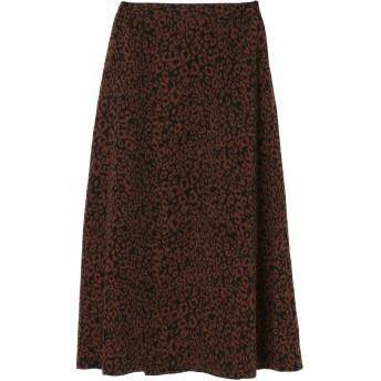 【6,000円(税込)以上のお買物で全国送料無料。】・SUGAR SPOON レオパードAラインスカート