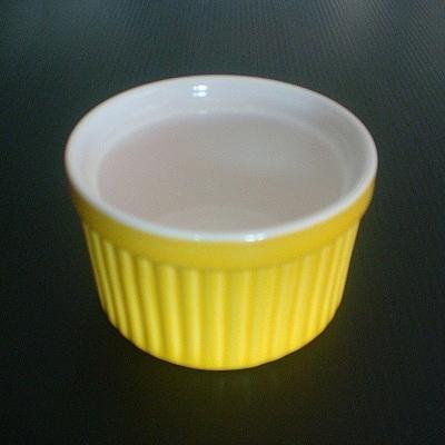 彩瓷布丁蛋糕烤模(黃色-120ml)/陶瓷器皿/烘焙用品