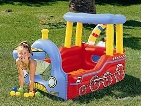 *幼之圓*INTEX 火車造型充氣遊戲池/球池~孩子的快樂城堡~