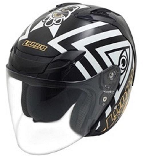 【東門城】LUBRO AIR TECH 荷魯斯之眼 (黑) 半罩式安全帽