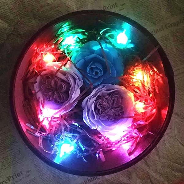 迷你彩色紐扣燈,LED電子燈泡 (開關式附2顆電池),單個價