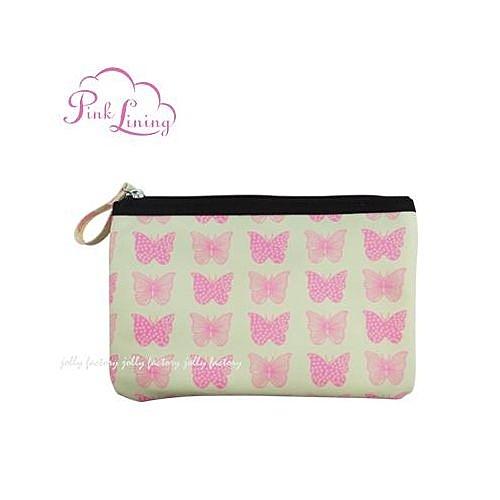 英國 Pinklining 置物零錢袋/手提包-粉蝶[衛立兒生活館]
