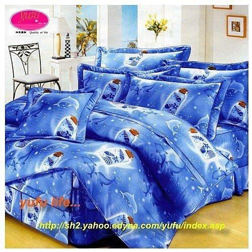 雙人【兩用被套+薄床包】(5*6.2尺)/高級四件式100%純棉雙人『瓶中繫福』☆*╮