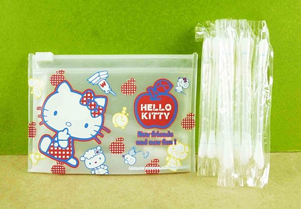 【震撼精品百貨】Hello Kitty 凱蒂貓~棉花棒附夾鏈袋-蘋果