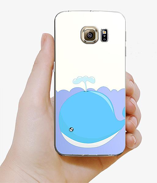 ♥ 俏魔女美人館 ♥Samsung Galaxy S7 {鯨魚*水晶硬殼} 手機殼 手機套 保護殼