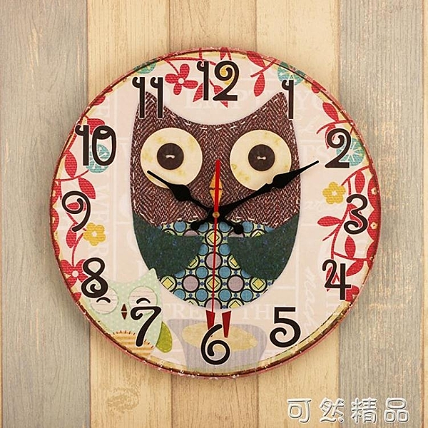 鐘表復古掛鐘創意個性圓形時鐘客廳臥室餐廳理發店牆面裝飾壁掛件 雙12全館免運