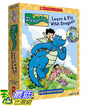 [106美國暢銷兒童軟體] Dragon Tales Learn & Fly With Dragons (CD-Rom and Book) - PC Mac