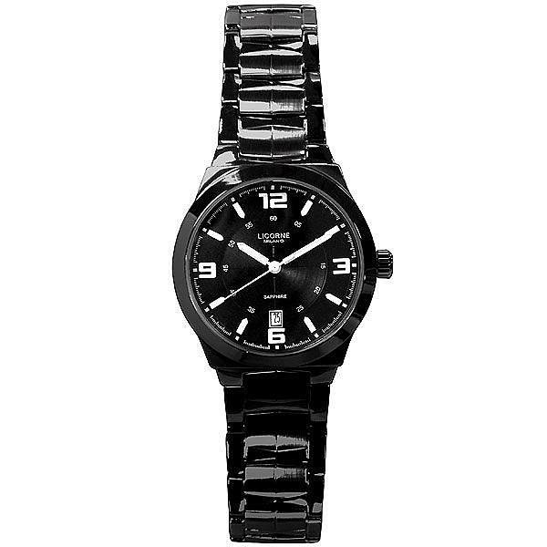 LICORNE MILANO系列 都會焦點時尚腕錶(全黑-小)