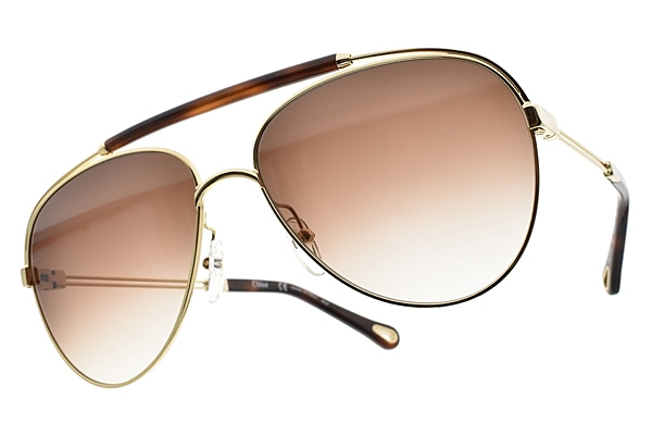 CHLOE 太陽眼鏡 典雅飛官款 琥珀金 CE141S-757