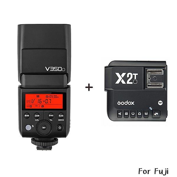 ◎相機專家◎ 送原電 數量有限 Godox 神牛 V350F + X2T 發射器 Fuji TTL 鋰電機頂閃 V350 開年公司貨
