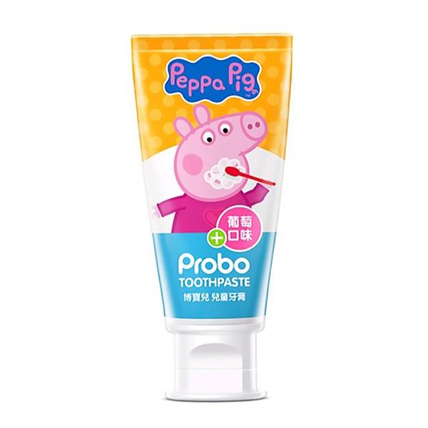 PROBO 博寶兒 兒童牙膏(佩佩豬-葡萄口味) 80g 【瑞昌藥局】016465