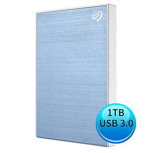 (2019新款)Seagate Backup Plus Slim 1TB USB3.0 2.5吋 外接硬碟 冰川藍 STHN1000402