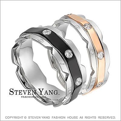 情侶對戒 西德鋼戒指尾戒「閃爍真愛」單個價格*情人節好禮