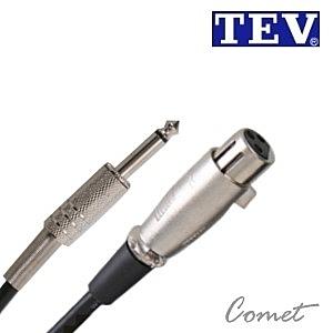 麥克風線TEV 04M-6.3 (10公尺/XLR to TS 6.3)
