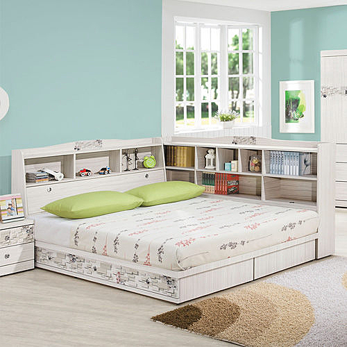 床架床檯 蜜斯朵3.5尺加大單人床架UZ5【時尚屋】(不含床頭櫃-床墊)免運費/免組裝/臥室系列