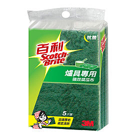 3M 百利抗菌升級爐具專用菜瓜布(小綠)20包
