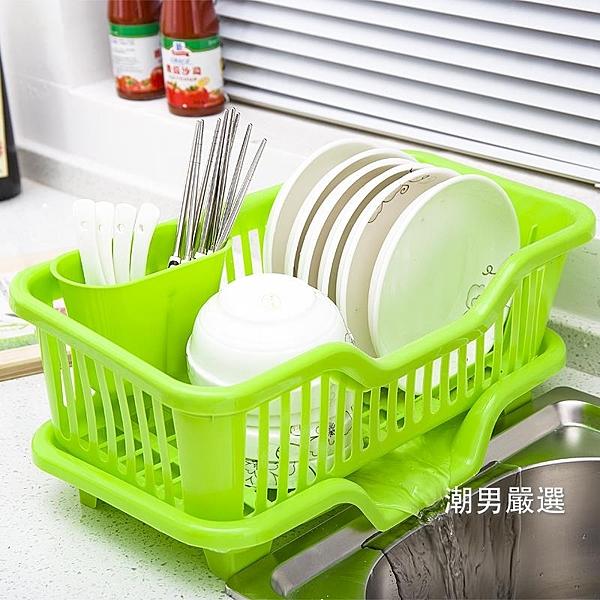 瀝水架廚房放碗架塑料用品瀝水滴水碗碟架碗筷收納置物架收納盒收納籃xw