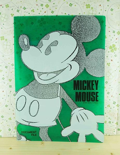 【震撼精品百貨】Micky Mouse_米奇/米妮 ~分類掀開夾-米奇全身-綠色底