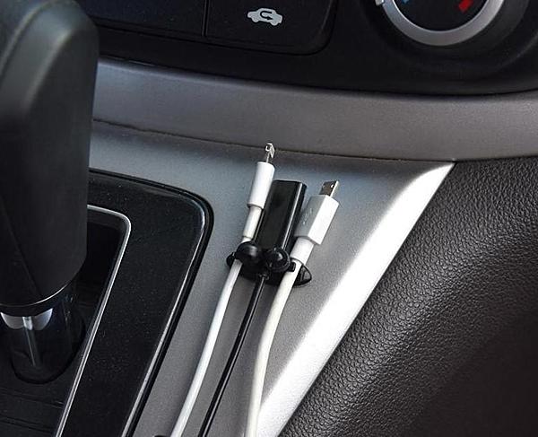 車用束線夾OLD30可夾3線 新款 升級版8顆裝 耳機導航記錄儀電線整理夾 車內線卡