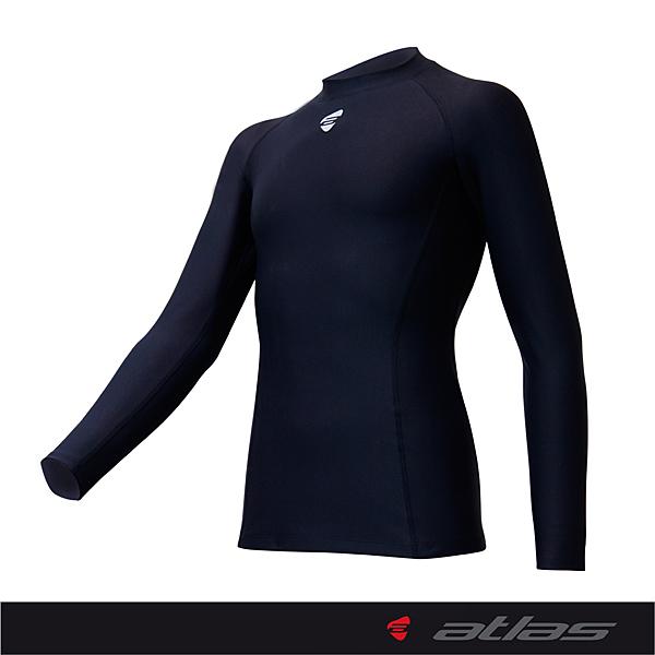 【亞特力士ATLAS】男女合身保暖緊身衣-腰身版 HJ-1231 (黑)