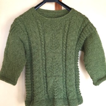 手編みセーター(ツリー柄)