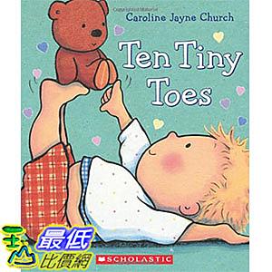 [ 美國直購 2016 暢銷書] Ten Tiny Toes Board book