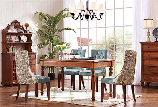 [紅蘋果傢俱] ST-036 新美式系列 鄉村 仿古 現代 餐桌 餐椅 多功能櫃 餐邊櫃 裝飾櫃 工廠直營