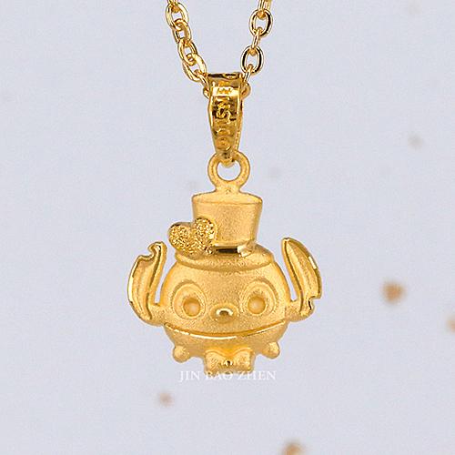 迪士尼系列金飾-黃金墜子-帥氣史迪奇