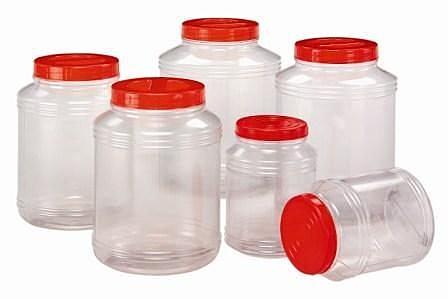 **好幫手生活雜鋪** 華成透明筒1公升---收納罐.收納桶.零食罐.塑膠筒.塑膠桶