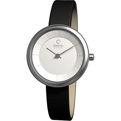 OBAKU 雅悅媛式時尚腕錶(銀黑)