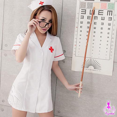 COSPLAY 純白短袍二件式護士角色扮演服 SEXYBABY 性感寶貝 SNA14030025