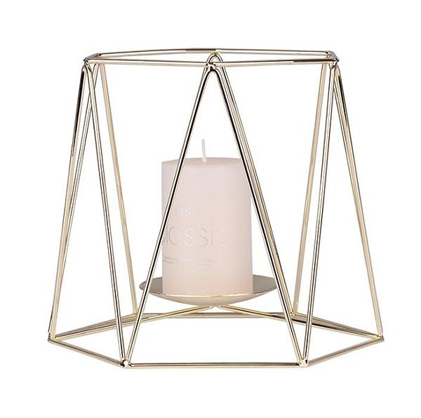 蠟燭台【SG452】 北歐金色蠟燭台 ins鐵藝浪漫香薰燭台 簡約歐式擺件 金屬蠟燭杯