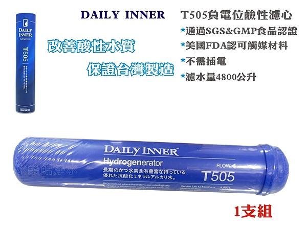 【水築館淨水】【台灣製造】DAILY INNER 負電位 鹼性水濾心 T505 氫分子鹼性(MT350)