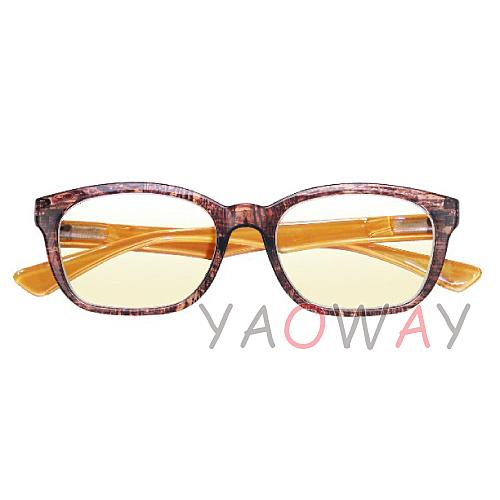 【耀偉】濾藍光眼鏡 木紋棕BL1311-BR