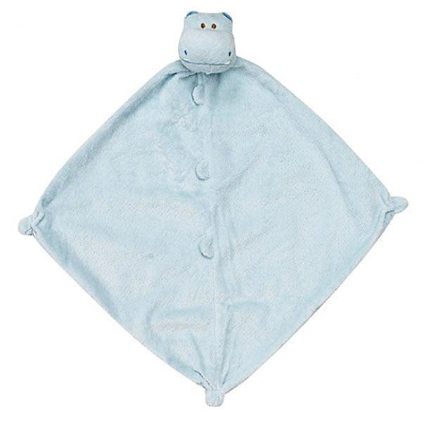 美國Angel Dear 動物嬰兒安撫巾 藍色河馬