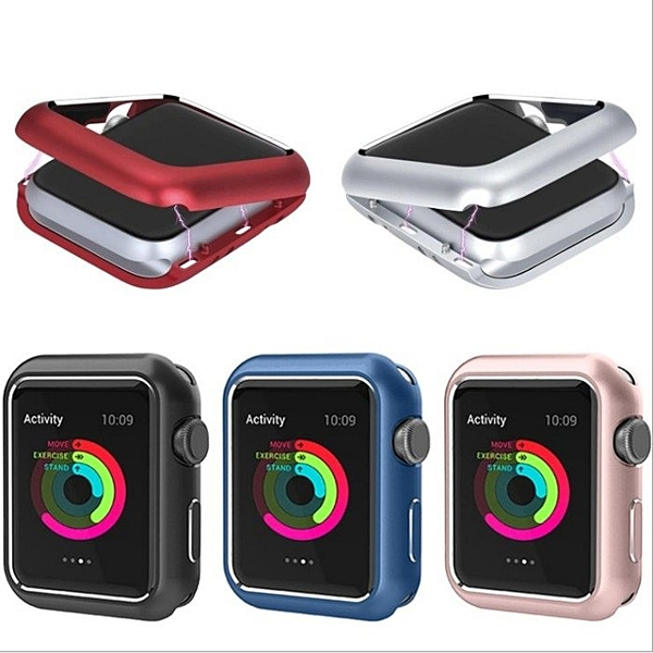 【Love Shop】蘋果四代磁吸金屬保護殼/適用於APPLE watch 4代手錶防摔金屬保護殼 iWatch